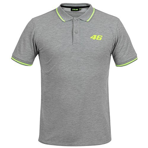 f66a8acae74 VR46 Official Core Collection Valentino Rossi Small 46 Polo T-Shirt - Grey L