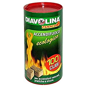 Diavolina – Pastillas de encendido ecológico, 100 unidades