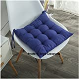 #4: AMZ Premium Microfibre Chair Pad Cushion Seat Pads Seat Cushion Indoor Outdoor Dining Home Office Garden Decor-15 x 15 inches (Royal Blue)