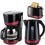 Frühstücksserie im trendigen schwarz/roten Design 3 Geräte=1Preis!!