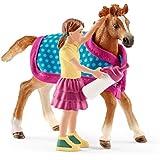 Schleich 42361 - Fohlen mit Decke Figur