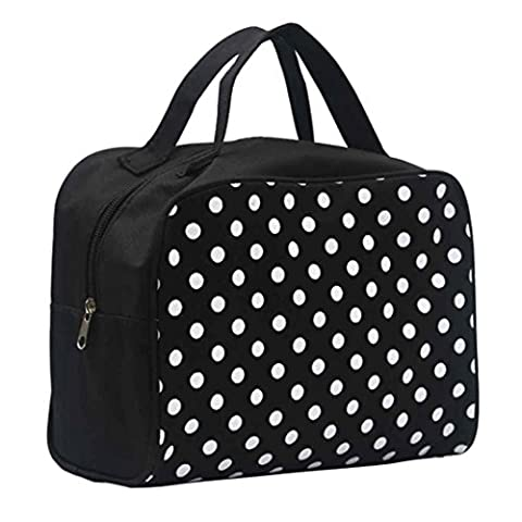 Tefamore Portable Maquillage Entrancing multifonctions Voyage Cosmetic Bag Toiletry Case Pouch (Noir)