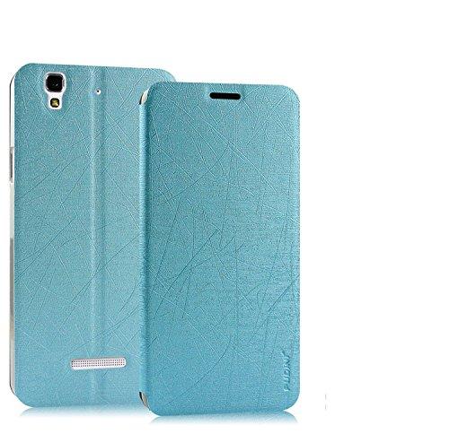 Pudini Yusi Series Flip Stand Case Cover for Micormax Yu Yureka - Free Screenguard - Blue
