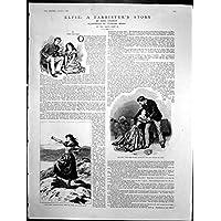 La Storia Antica Romeo Juliet degli Avvocati di Elfie della Stampa È Caduto Ginocchia che la Borsa Equipaggia i Piedi 1886