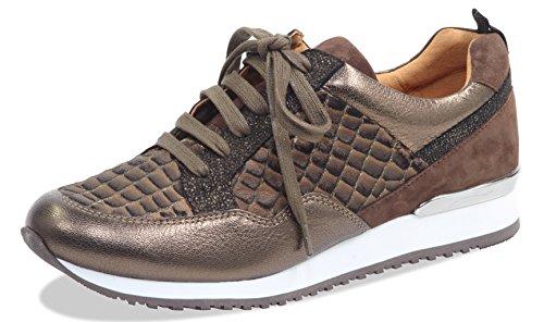 Caprice Damen Low-Top Sneaker 23602-21,Frauen Keil-Sneaker,Sneaker Wedges,Keilabsatz,Halbschuh,Sportschuh,Schnürschuh, Decksohle,2.5cm,Brown Comb,EU 42