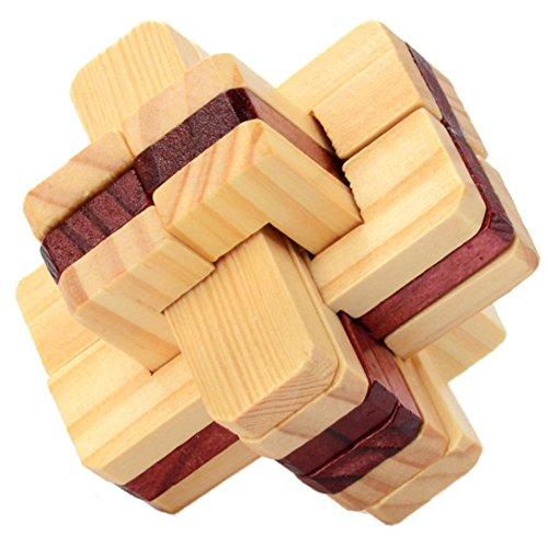 Spielzeug, mamum Holz Intelligenz Spielzeug Chinesische Brain Teaser Spiel 3D IQ Puzzle für Kinder Erwachsene Einheitsgröße e ()