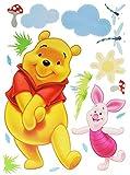 Unbekannt 17 TLG. Set XXXL - Wandtattoo / Fensterbild / Sticker groß - Winnie The Pooh Bär mit Ferkel - Wandsticker selbstklebend Puuh Kinderzimmer