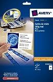 AVERY - C32010-25 - 250 cartes de visite blanches à bords micro perforés. 85x54mm. Impression laser, jet d'encre, copieur