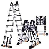 ACZZ Scala allungabile 2.3-5.5M telescopica/scala dritta/ingegneria pieghevole scala a spina di pesce/per soffitta in lega di alluminio per uso domestico,Scala a spina di pesce-2.3m