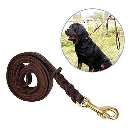 Correa Para Perros, Focuspet 1.8 m piel ajustable perros Animales Pet Doble Cuerda Leash Rope perro...