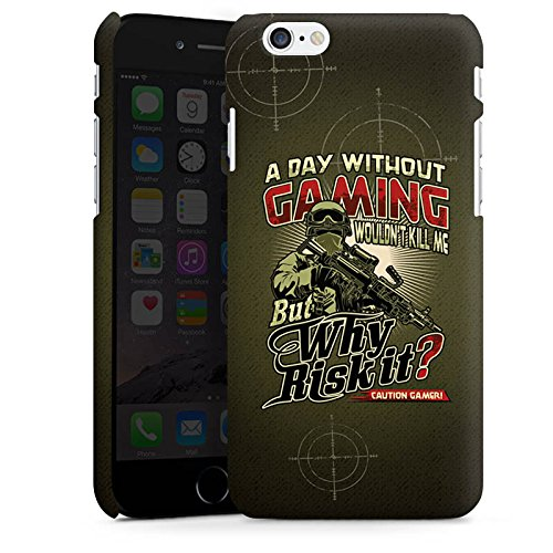 Apple iPhone X Silikon Hülle Case Schutzhülle Gaming Spruch Gamer Premium Case matt