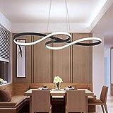 AILAIVM LED Pendelleuchte Esstisch Hängelampe Dimmbar Höhenverstellbar Pendellampe Esszimmer mit Fernbedienung Modern Hängeleuchte Kronleuchter Deckenleuchte Arbeitszimmer Wohnzimmer Küche