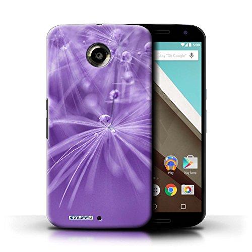Kobalt® Imprimé Etui / Coque pour Motorola Nexus 6 / Fleur Violet conception / Série Gouttes de Fées Fleur Violet