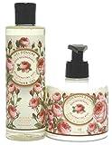 Panier des Sens Pflegset Rose: Duschgel 250ml & Hand-/Bodylotion 300ml, mit echtem Damaszenerrosenöl, 2-teilig