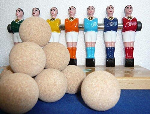 11 balles de baby foot lièges brutes PRO