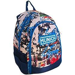 Munich 450830 Graffiti Mochila tipo casual, 43 cm , 20 litros, Azul Marino