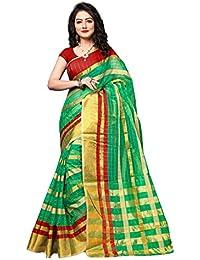 Indian Fashionista Kora Silk Saree With Blouse Piece (Ethnic Party Wear SareeFor Women)
