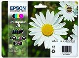 Epson C13T18064022 Multi-Pack (Schwarz, Gelb, Magenta, Cyan) Original Tintenpatronen Pack of 1