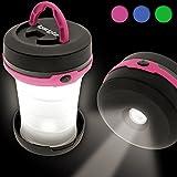 igadgitz 3 en 1 LED Camping Lampe Télescopique de Poche Lanterne Pliable Randonnée