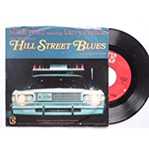 "Post, Mike Hill Street Blues 7"" Elektra E47186 EX/VG 1981 picture sleeve, US pressing"
