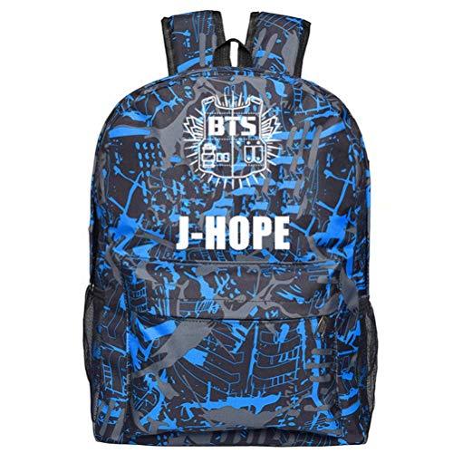 Sunrise-EU BTS Bangtanboys Wings Rucksack Schultasche für Student Blitz Logo JHOPE 31 * 18 * 47cm
