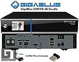 GigaBlue UHD UE 4K Cable 1x DVB-C FBC & Dual DVB-S2x Bundle mit 150Mbit WLAN Stick Mini