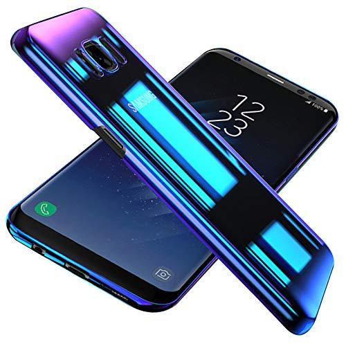Conie TC34973 Twilight Case Kompatibel mit Samsung Galaxy S7, Farbwechsel Hülle Effekt Handycover Rückschale Case Schutzhülle rutschfest Kantenschutz Mehrfarbig Violett