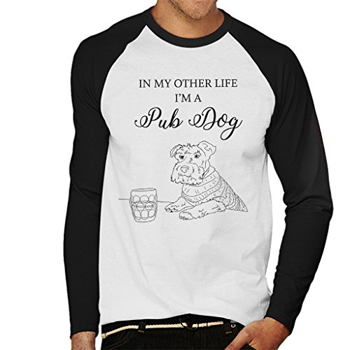 Great British Pub Dogs in My Other Life Im A Pub Dog Men's Baseball Long Sleeved T-Shirt