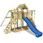 WICKEY Spielturm MultiFlyer Kletterturm Spielplatz Garten mit Schaukel, Rutsche und Kletterwand 7