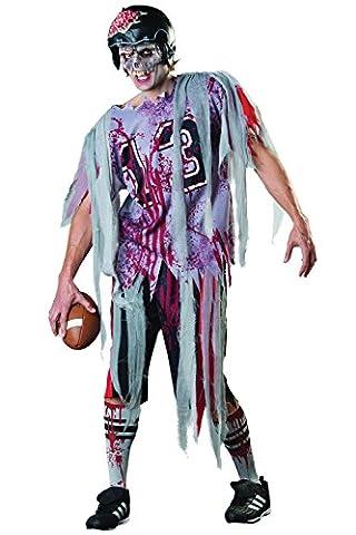 Footballeur Americain - Adultes Déguisement Halloween Fin Zone Zombie Footballeur