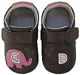 Rose & Chocolat RCM  Elephant Kiss Grey - Zapatos para bebes para bebé-niñas, color gris (grey), talla 19