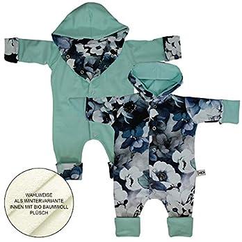 Wende Winter Overall Hibiskus Blau – Pastellmint