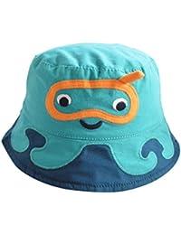 Happy Cherry - Sombrero para Bebes Niña Niño de 3 meses - 6años Gorro Protección de Sol Gorra de Pescador con Ala Lindo Cartoon