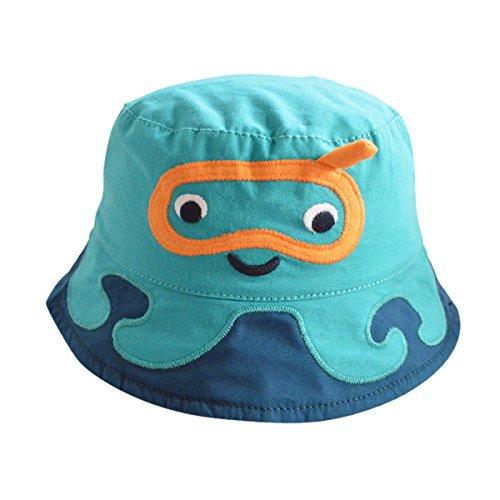 Happy Cherry - Sombrero de Pescador Bucket Hat para Bebés Niño Niña con ala de Algodón Verano Outdoor...