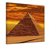 """Bilderdepot24 Leinwandbild """"Cheops Pyramide - Gizeh in Ägypten"""" - 20 x 20 cm - fertig gerahmt, direkt vom Hersteller"""