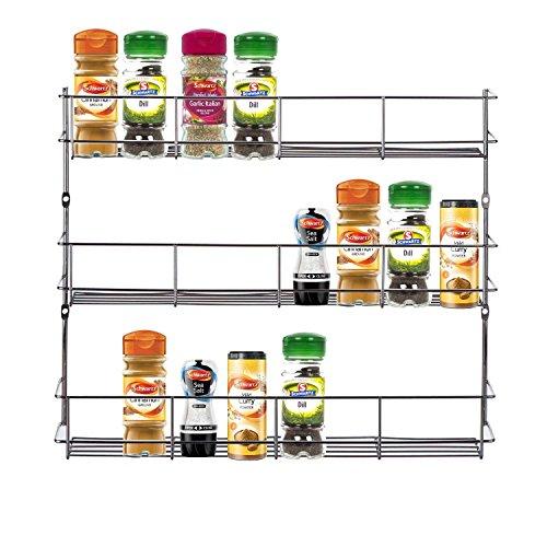3Etagen Spice Herb Rack für Küche Tür Schrank Speicher oder Wand (Wand-spice-rack-schrank)