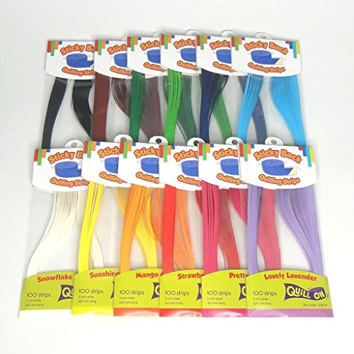 Quill On Singature Collection Sticky Back Quilling Strip, Multi Color (3mm)