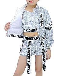 7687aa5ff5ce4 Huatime Danza Ropa Disfraces Vestidos - Niños Niñas Lentejuelas Hip Hop  Traje de Calle Conjunto de