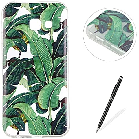 Samsung Galaxy A5 2017 Case,MAGQI Samsung Galaxy A5 2017 Soft Flexible TPU Gel Rubber Cover,Watermelon Fruit Beautiful Flower Tree Pattern Design With [Ultra-Thin] [Anti-Scratch] [Drop Protection] Transparent Shell and Protection For Samsung Galaxy A5 2017 Case + Free Black 2 in 1 Stylus Pen - Banana