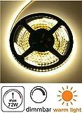 (4,98 €/m) 5m LED Stripe Double PCB 12V dimmbar - 72W 4500lm - SMD 300 x 5050 60SMD/m - IP20 selbstklebend - 10mm - warmweiß (3000 K)