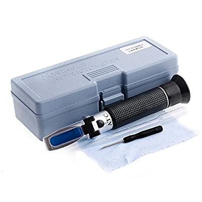 dairyshop salinité réfractomètre saumure Sel Eau Testeur Aquarium Hydromètre avec qualité 0% -10%