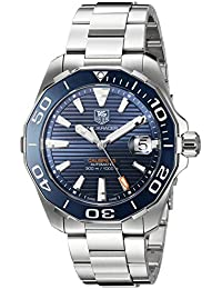 TAG Heuer Men's 'Aquaracer' Swiss Stainless Steel Automatic Watch, Color:Silver-Toned (Model: WAY211C.BA0928)