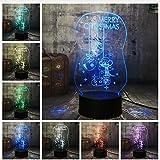 Veilleuse 3D LED Mignon Éclairage Joyeux Noël Chaussette Cloche Rvb Nuit Lumières Usb Lampe De Bureau Touch Home Bonne Année Cadeau De Noël Pour Enfants