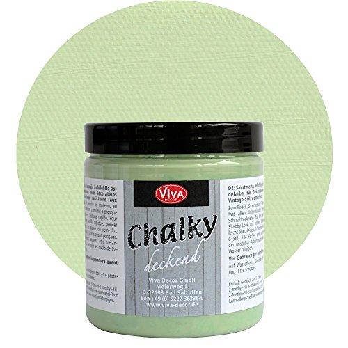 Chalky Deckend 250 ml (Salbeigrün) - - - Vintage Antik-Look Kreide-Farbe Shabby-Chic - Viva Decor...