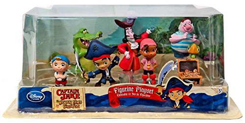 Disney Store Disney Jr. Jake and the Never Land/Neverland Pirates 7 Piece Action Figure Figurine Gift Play (Jake Pirate)