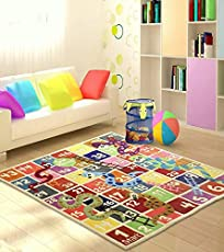 Littlelooms Snakes and Ladders Kids Rug & Carpet Baby Multifuntion Mat for Kids Play Room Decor for Nursery Kids Room 0-12 Years Child 5 x 5 (Feet)