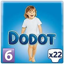 Dodot - Pañal Extra Seco, Talla 6, 15+ Kg - 22 pañales