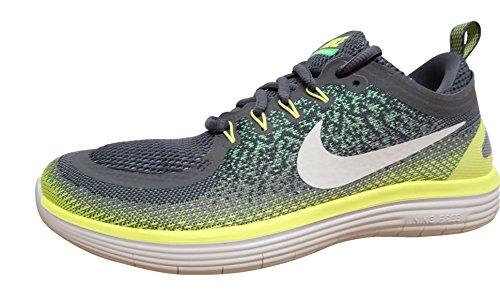Nike Free Rn Distance 2, Scarpe Running Uomo Multicolore (Stealth/off White-dark Grey)