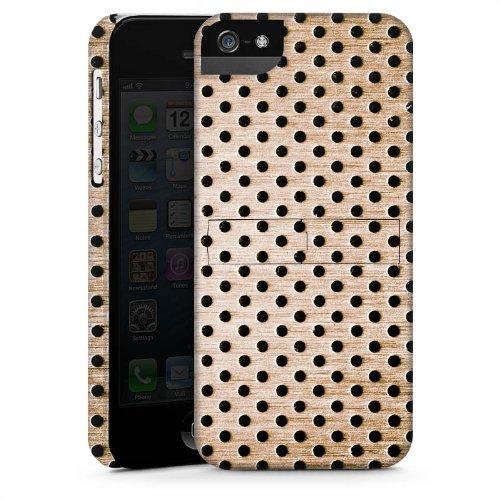 Apple iPhone 6 Housse Étui Silicone Coque Protection Bronze Tôle perforée Métal CasStandup blanc