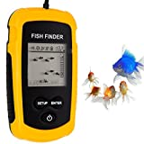 [New version] BuydalyOutdoor 100m Portable Large LCD Sonar Sensor Fish Finder With Alarm Transducer for fishing LED Backlight
